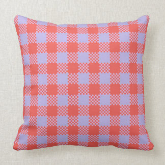 Plaid Orange Stripes Cushion
