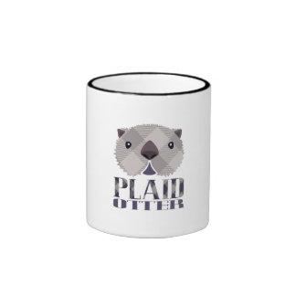 Plaid Otter Mug