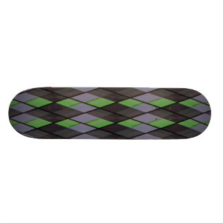 Plaid out skate deck