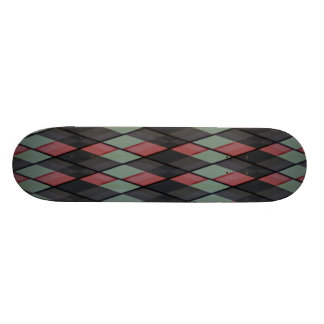 Plaid out skateboard deck
