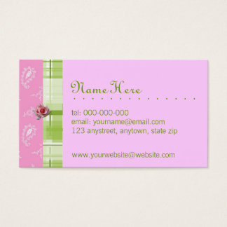 Plaid & Paisley Business Card