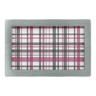 Plaid pattern belt buckle