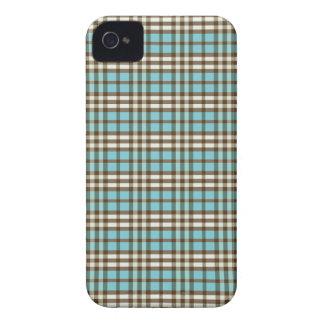 Plaid Pattern BlackBerry Bold Case (aqua/brown)