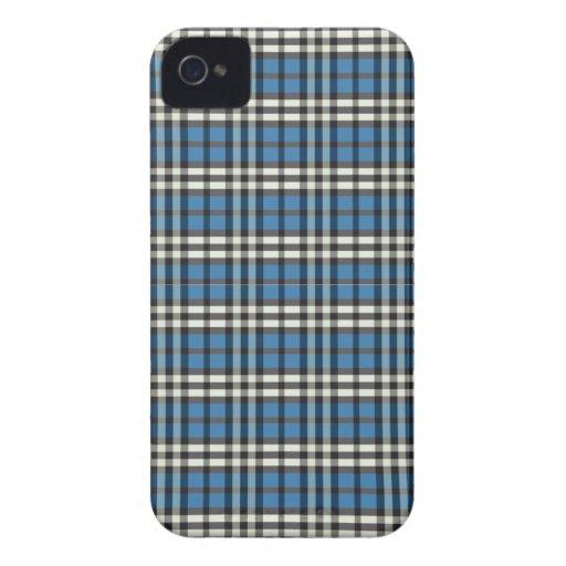 Plaid Pattern BlackBerry Bold Case (blue/black)