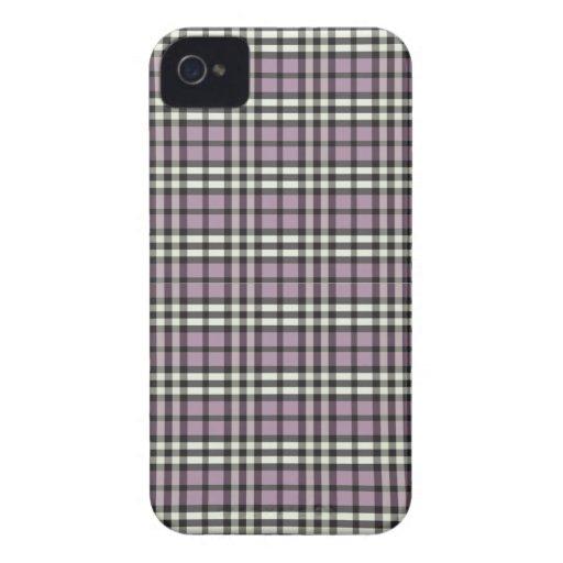 Plaid Pattern BlackBerry Bold Case (lilac/black)