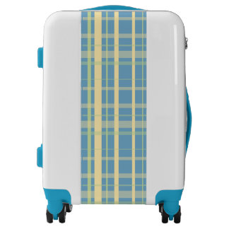 Plaid Pattern, Blue and Yellow Luggage