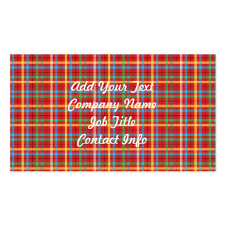 Plaid Pattern Pack Of Standard Business Cards