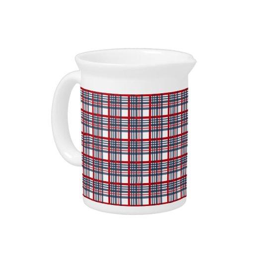 Plaid pattern drink pitchers
