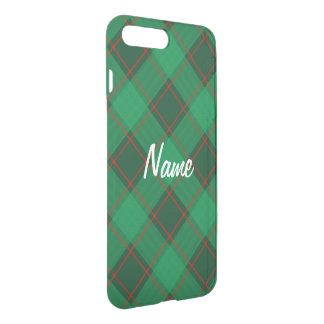 Plaid Pattern - Green and Red iPhone 8 Plus/7 Plus Case