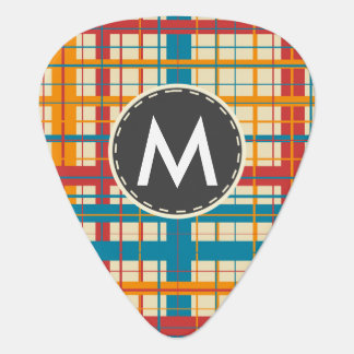 Plaid pattern guitar pick