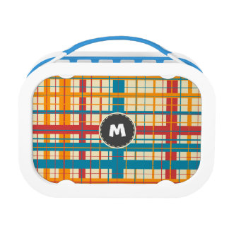 Plaid pattern lunch box