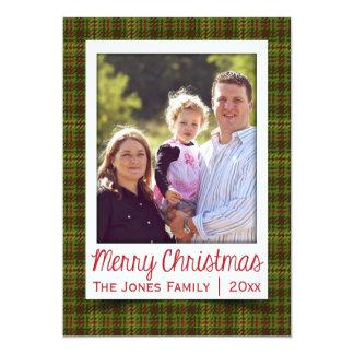 Plaid Pattern Photo Holiday Card 13 Cm X 18 Cm Invitation Card
