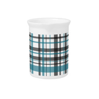 Plaid pattern pitcher