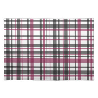 Plaid pattern placemat