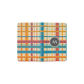 Plaid pattern pocket moleskine notebook