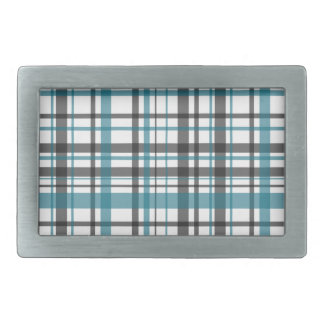 Plaid pattern rectangular belt buckle