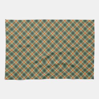 Plaid pattern hand towel