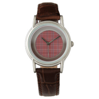 Plaid Patterned Watch