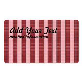 plaid patterns pack of standard business cards