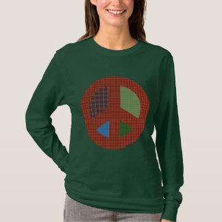 Plaid Peace Symbol T-shirt