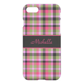 Plaid Pink and Green iPhone 8/7 Case