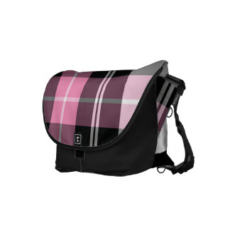 Plaid pink commuter bag