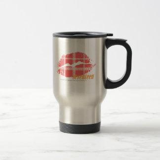 Plaid Pink Stainless Steel Travel Mug
