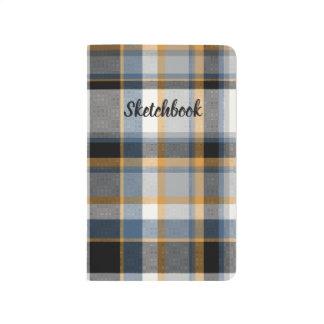 Plaid Pocket sketchbook Journal
