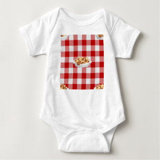 plaid poutine baby bodysuit