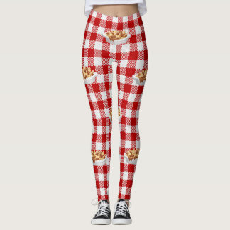 plaid poutine leggings