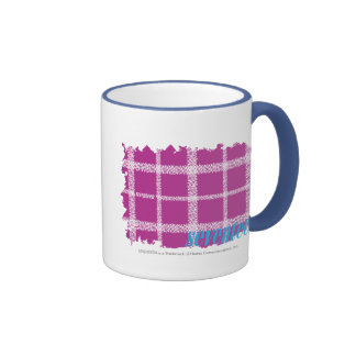 Plaid Purple 4 Ringer Mug