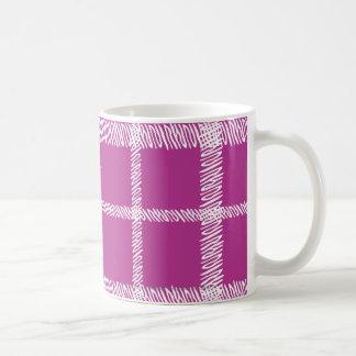 Plaid Purple Coffee Mug