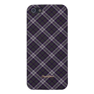 Plaid Purple Gray Pattern Savvy Covers For iPhone 5