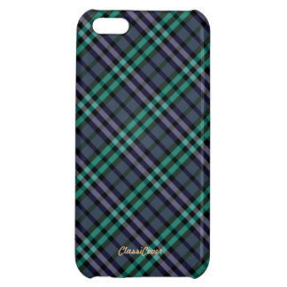 Plaid Purple Green Pattern Savvy iPhone 5C Cover