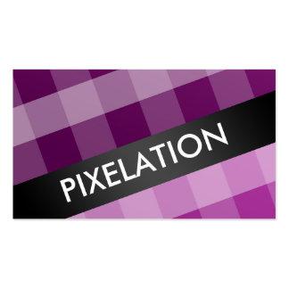 Plaid purple smart standard business cards