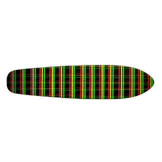 Plaid Rasta Old School Custom Skateboard