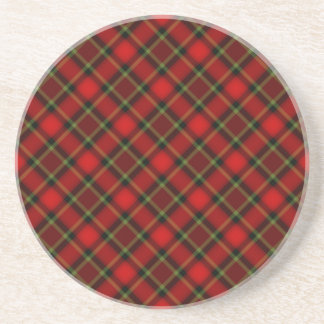 Plaid Red Green Coasters