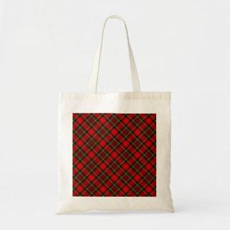 Plaid Red & Green Tote Bag