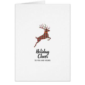 Plaid Reindeer Holiday Cheer Card