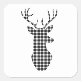 Plaid reindeer stickers