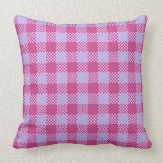 Plaid Rose Pink Stripes Cushion