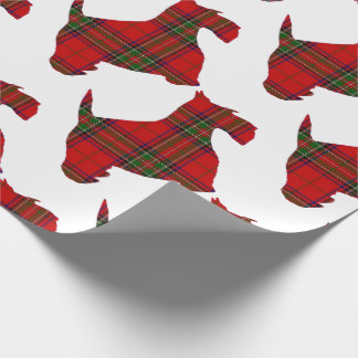 Plaid Scottie Dog Wrapping Paper