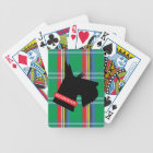 Plaid Scottish Terrier Personalised Playing Cards