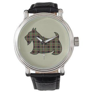 Plaid Scottish Terrier Watch