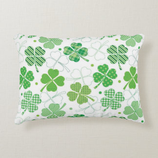 Plaid Shamrocks Decorative Cushion
