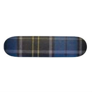 plaid skate board deck