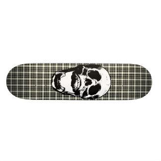 Plaid Skull Skateboard