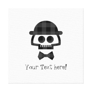Plaid Skull with Bolo and Bowtie icon Canvas Print