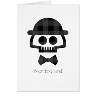 Plaid Skull with Bolo and Bowtie icon Card