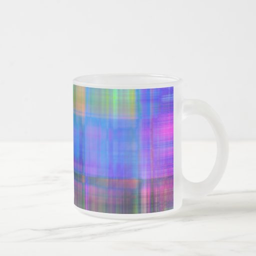 Plaid Spectrum Frosted Mug